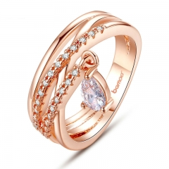 Gold Color Bohemia Ring for Lady Wedding with Water Drop Pendant Special Store Jewelry JIR054