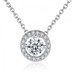 Latest Pendant Necklace Elegant for Women With Round CZ Zircon-jewelry 0.6CM Power Necklace Wedding Jewelry YIN039