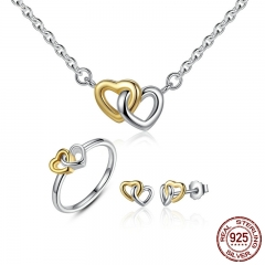 Genuine 925 Sterling Silver Bridal Jewelry Set Heart to Heart Jewelry Sets Silver Jewelry Sets amp More ZHS016