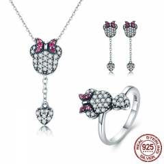 925 Sterling Silver Jewelry Set Sparking CZ Cartoon & Heart Jewelry Sets Wedding Engagement Jewelry Accessories ZHS042