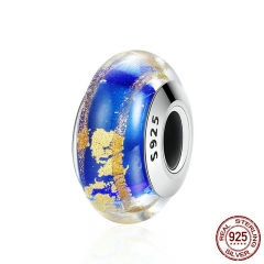 High Quality 925 Sterling Silver Pattern European Murano Glass Beads Charms fit Women Bracelets & Bangles Jewelry SCZ058