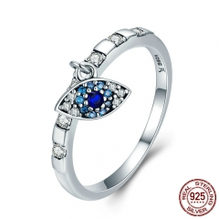 925 Sterling Silver 7 Styles Day Ring Monday to Sunday Moon Lucky Eye Heart Dangle Female Ring for Women Silver Jewelry