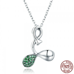 Summer Collection 100% 925 Sterling Silver Buds of Spring Leaves Pendant Necklaces Women Silver Necklace Jewelry SCN239