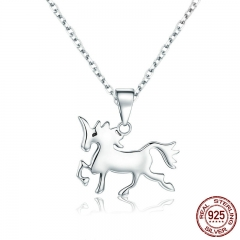 Hot Sale Genuine 925 Sterling Silver Pure Love Pendant Necklace for Women Sterling Silver Jewelry 38-45cm SCN222