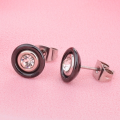 Stainless Steel and Ceramic Earring