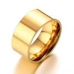 Gold Stainless Steel Ring RS-0846B
