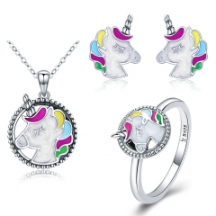 Genuine 100% 925 Sterling Silver Jewelry Set