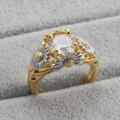 Fashion Copper Ring with CZ Stones FARI-207 FARI-207