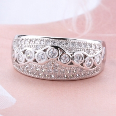 Fashion Copper Ring with CZ Stones JZ327 FARI-233