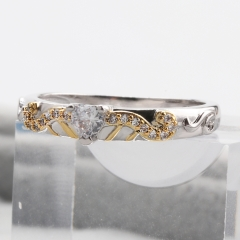 Fashion Copper Ring with CZ Stones FARI-186 FARI-186