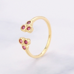 Fashion Copper Ring with CZ Stones FARI-244 FARI-244