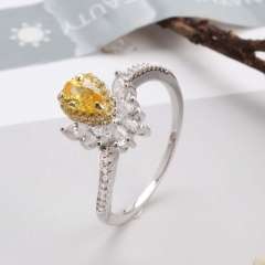 Fashion Copper Ring with CZ Stones FARI-168 FARI-168