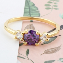 Fashion Copper Ring with CZ Stones 	JZ315 FARI-234