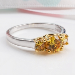 Fashion Copper Ring with CZ Stones FARI-176 FARI-176