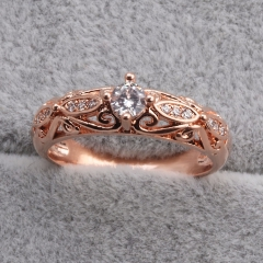 Fashion Copper Ring with CZ Stones FARI-182 FARI-182