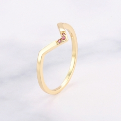Fashion Copper Ring with CZ Stones FARI-242 FARI-242