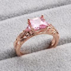 Fashion Copper Ring with CZ Stones FARI-191 FARI-191