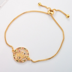 Stainless Steel Bracelet with Copper Charms BS-1726