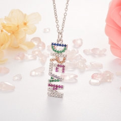 Stainless Steel Necklace with Copper Charms NS-0683A