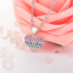 Stainless Steel Necklace with Copper Charms NS-0691A