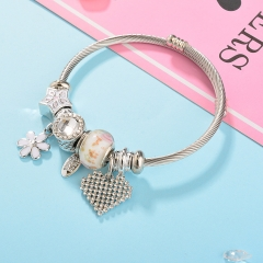 Stainless Steel Bracelet With Alloy Charms BS-1801