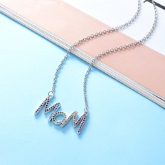 Stainless Steel Necklace with Brass Charms TTTN-0007