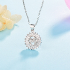 Stainless Steel Necklace with Copper Charms NS-0698A