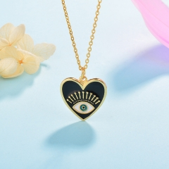 Stainless Steel Necklace with Brass Charms TTTN-0005A