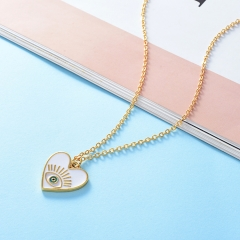 Stainless Steel Necklace with Brass Charms TTTN-0005B