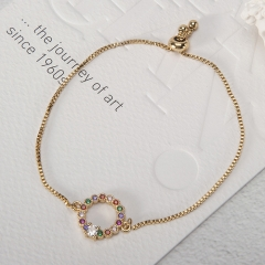 Stainless Steel Bracelet with Copper Charms TTTB-0002