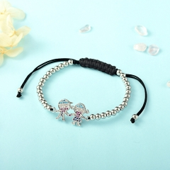 Stainless Steel Bracelet with Copper Charms BBS-0001A