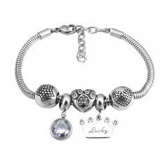 Stainless Steel Charms Bracelet  L165169