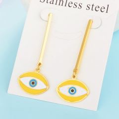 New Exaggerated Evil Eye Stainless Steel Earrings for Women XXXE-0057
