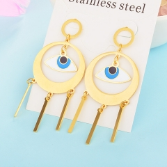 Personality Lucky Eyes Fashion Punk Stainless Steel Earrings XXXE-0061