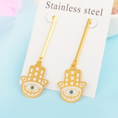 Personality Lucky Eyes Fashion Punk Stainless Steel Earrings XXXE-0071