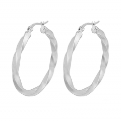 Stainless Steel Solid Earrings ES-1720A