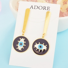 Personality Lucky Eyes Fashion Punk Stainless Steel Earrings XXXE-0064