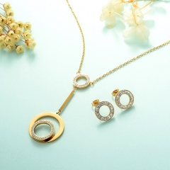 Stainless Steel Jewelry Set 18k Gold Jewelry Wholesale  XXXS-0230