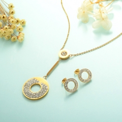 Stainless Steel Jewelry Set 18k Gold Jewelry Wholesale  XXXS-0232