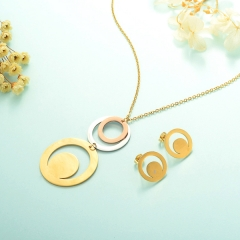 Stainless Steel Jewelry Set 18k Gold Jewelry Wholesale  XXXS-0242