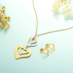 Stainless Steel Jewelry Set 18k Gold Jewelry Wholesale  XXXS-0240