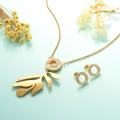 Stainless Steel Jewelry Set 18k Gold Jewelry Wholesale  XXXS-0231