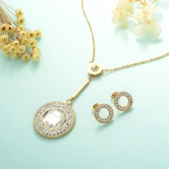 Stainless Steel Jewelry Set 18k Gold Jewelry Wholesale  XXXS-0233
