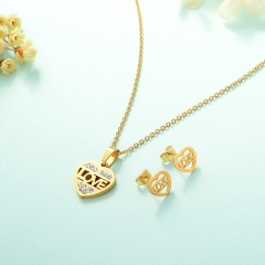Manufacture ladies jewellery, Stainless Steel Jewelry Set 18k Gold Jewelry Wholesale  XXXS-0229
