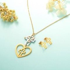Stainless Steel Jewelry Set 18k Gold Jewelry Wholesale  XXXS-0238
