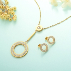 Stainless Steel Jewelry Set 18k Gold Jewelry Wholesale  XXXS-0234