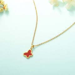 stainless steel cheap enamel necklace    XXXN-0009
