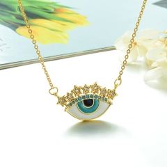 Stainless Steel Chain and Brass Pendant Necklace TTTN-0183