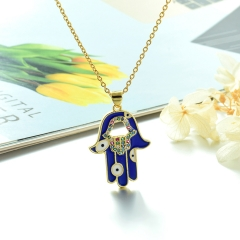 Stainless Steel Chain and Brass Pendant Necklace TTTN-0192