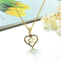 Stainless Steel Chain and Brass Pendant Necklace TTTN-0194